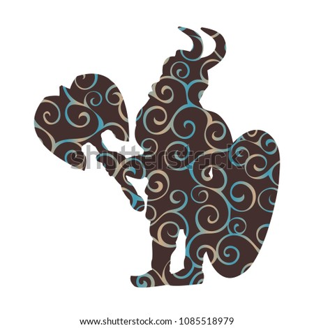 dwarf pattern silhouette