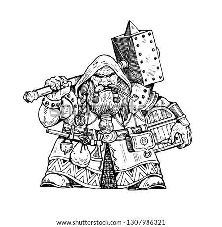 dwarf with warhammer