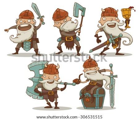 dwarfs set  vector