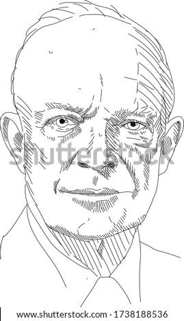 Dwight D. Eisenhower - 34 President Photo stock ©