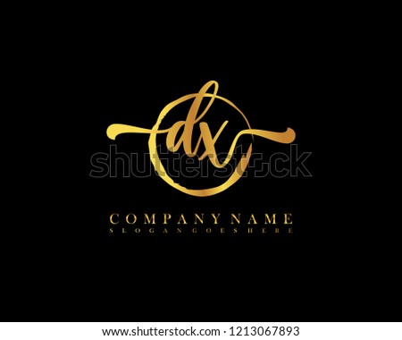 dx initial handwriting logo