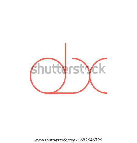 dx initial letter logo template