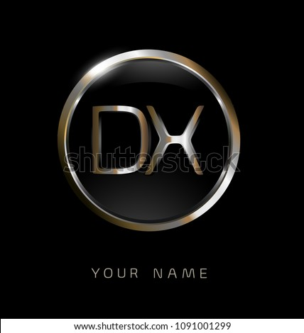 dx initial letters with circle