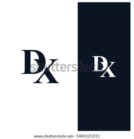 dx letter linked unique logo