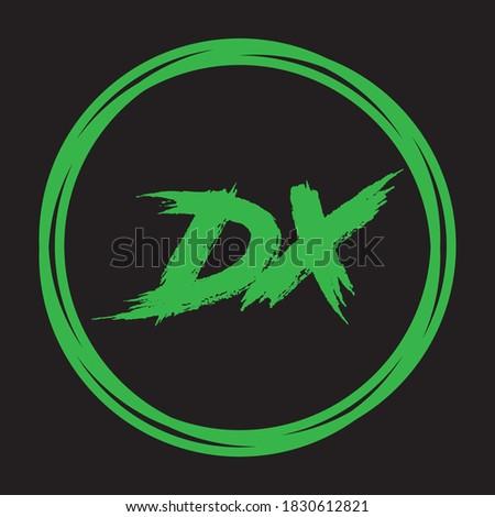 dx letter logo design creative