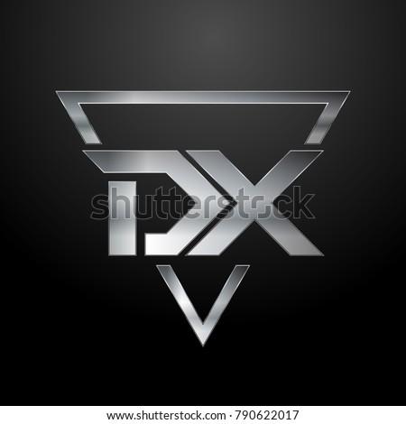 dx logo  monogram  metal