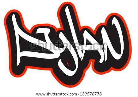 dylan graffiti font style name