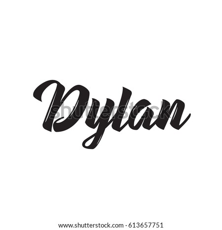 dylan  text design vector