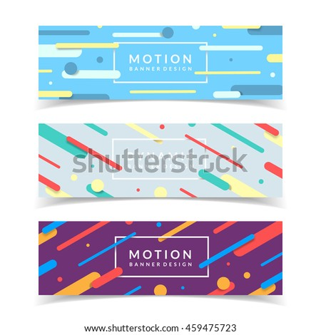 dynamic banners set colorful