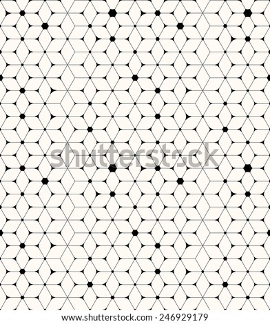 Dynamic beige cube and romb geometric abstract seamless pattern