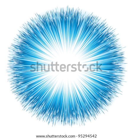 dynamic blue light explosion