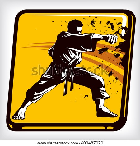 dynamic icon of martial arts