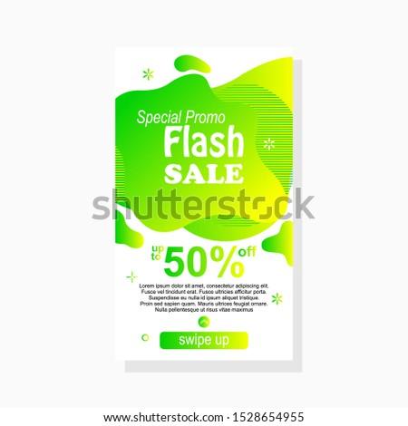 dynamic modern fluid amoeba label design fol sale banner template with gradient color
