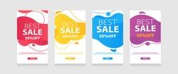 Dynamic modern fluid mobile for flash sale banners. Sale banner template design, Flash sale special offer set
