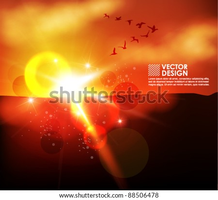 dynamic shiny sunshine vector background design