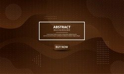 Dynamic textured background design. Abstract liquid background with brown gradient color. Modern vector templates.