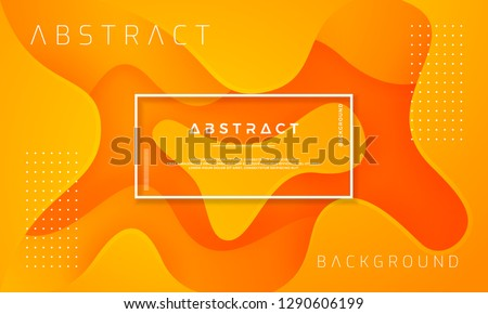 Dynamic textured background design in 3D style with orange color. Can be used for posters, placards, brochures, banners, web pages, headers, covers, and other