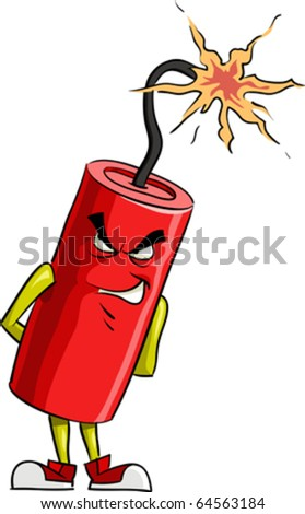 Dynamite on a white background, vector illustration