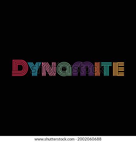 Dynamite typography text vector design Stockfoto ©