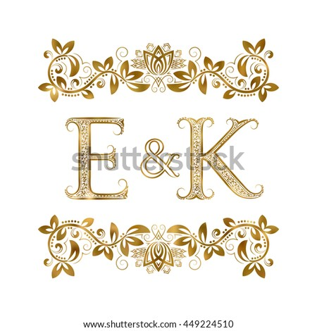Royalty Free E And Y Vintage Initials Logo Symbol 453100036 Stock