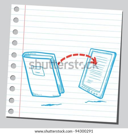 E-book and book connection