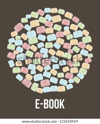 e book button brown background. vector illustration