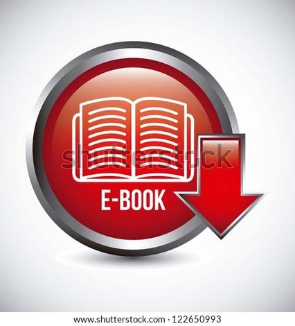 e book button over gray background. vector illustration