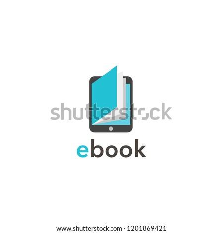 e book flat icon.Vector illustration. Stock photo ©