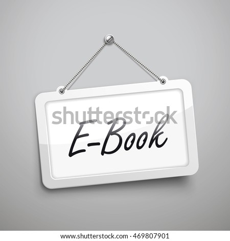 e book hanging sign  3d