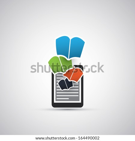 Book Reader Icon Design - stock vectorBook Reader Icon