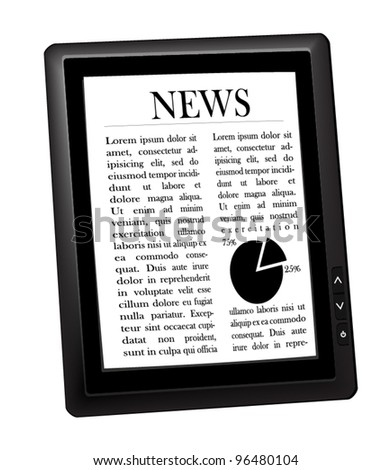 E-book. Vector.