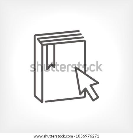 E-Book vector icon, education icon