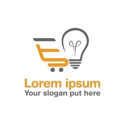 E bulbs letter logo design template vector