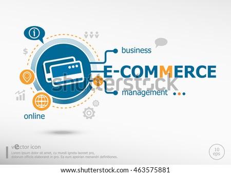 E-commerce and marketing concept. E-commerce concept for creative process.