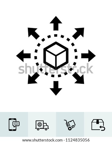 E-Commerce and online shopping icons with White Background