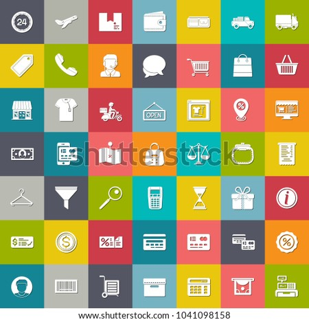 e commerce and shopping icons ...