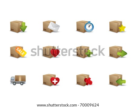e commerce box icons