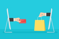 e-commerce concept. Flat vector image