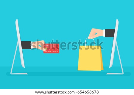 e-commerce concept. Flat vector image