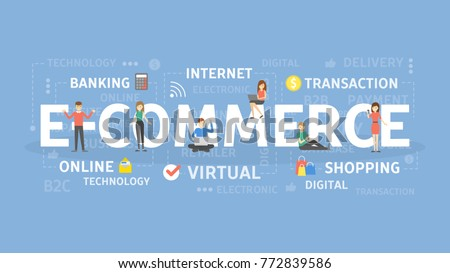 E-commerce concept illustration. Idea of shopping, online and transaction.
