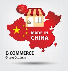 e commerce concept. Made in china. Business concept.