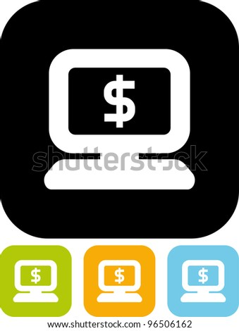 E-commerce concept - Vector icon isolated - stock vector