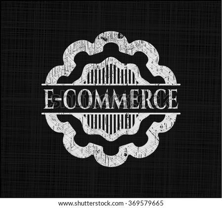 e-commerce on chalkboard