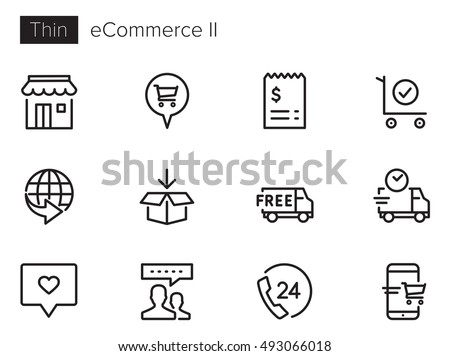 e-Commerce & Online Shopping II vector icon set