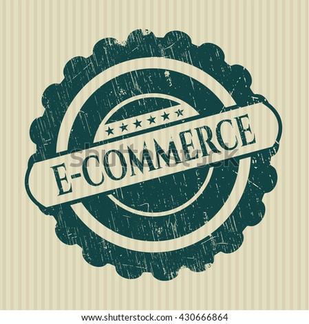 e-commerce rubber grunge seal
