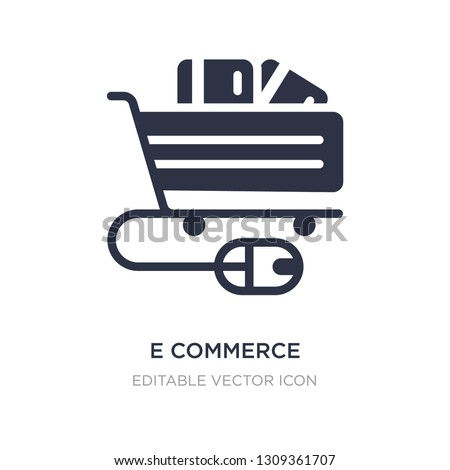 e commerce shopping cart tool icon on white background. Simple element illustration from Commerce concept. e commerce shopping cart tool icon symbol design.