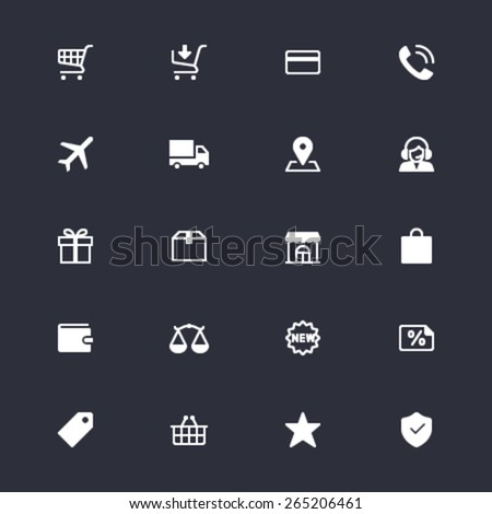 E-commerce simple icons