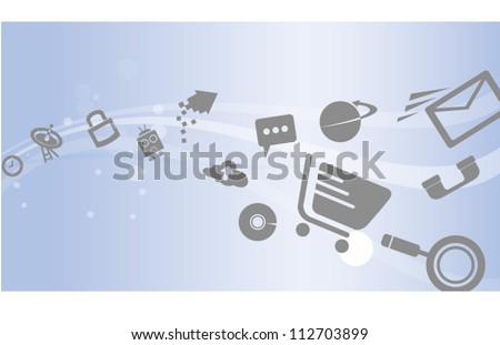 e commerce, social media background, banner