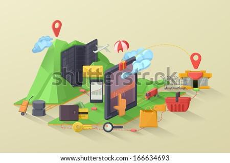 e commerce vector illustration