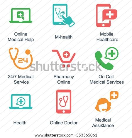 E-health Icons (Color Version)